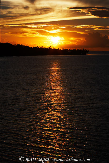 Image 901, Sunset. Tahaa, Society Islands, French Polynesia, Matt Segal, all rights reserved worldwide.  Keywords: Sunset