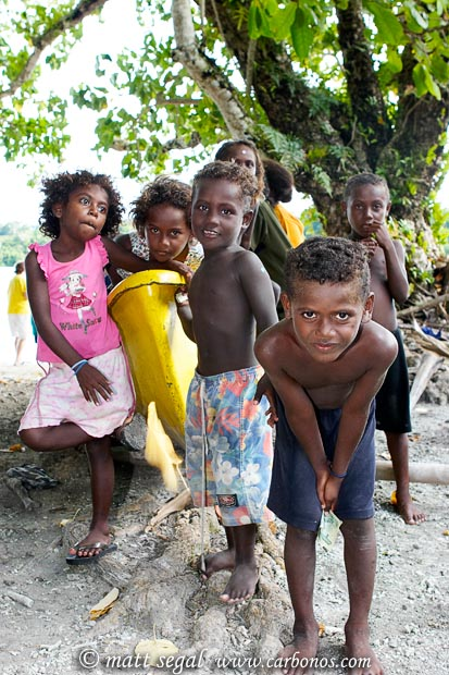 Image 993, Native village children of the Solomon Islands. Chief Luten's Village, Marovo Lagoon, New Georgia, Solomon Islands, Matt Segal, all rights reserved worldwide.  Keywords: Native, village, children, Solomon Islands